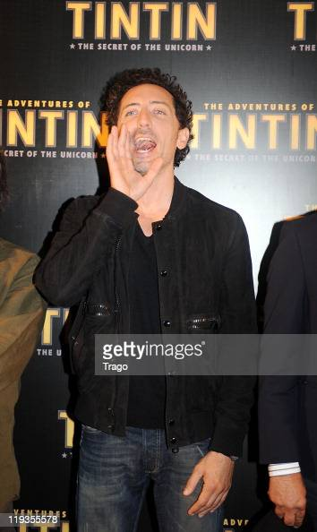 Gad Elmaleh attends the World Premiere Photocall of The Adventures of Tintin Secret of the Unicorn at Hotel Royal Monceau Raffle on July 19 2011 in...