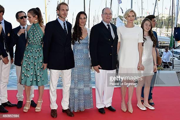 Gad Elmaleh Charlotte Casiraghi Andrea Casiraghi Tatiana Santo Domingo Casiraghi Prince Albert II of Monaco Princess Charlene of Monaco and Princess...
