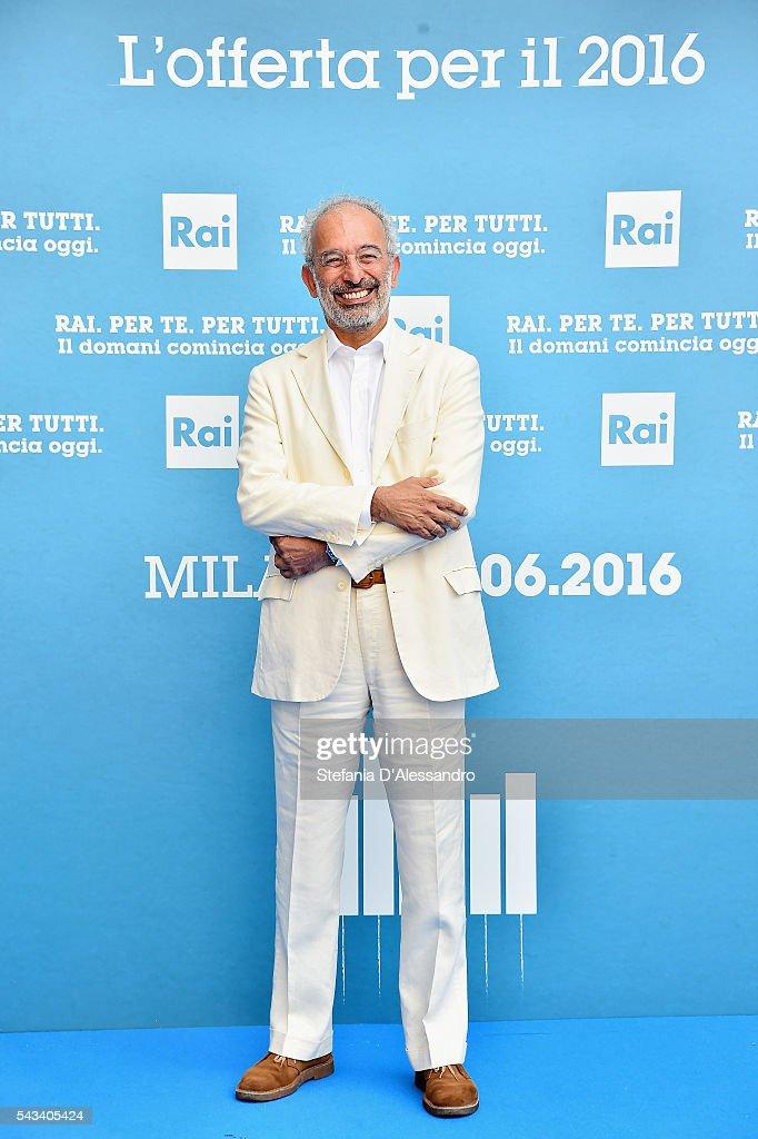 Gad Lerner attends Rai Show Schedule Presentation In Milan on June 28, 2016 in Milan, Italy.