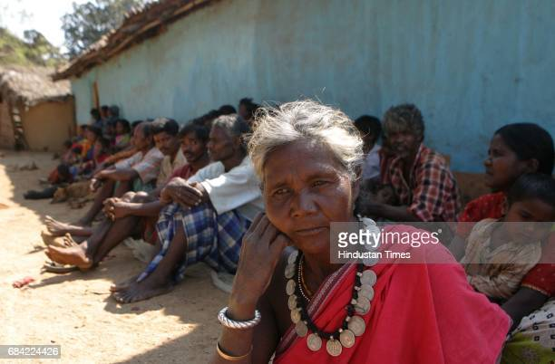 Gadchiroli Naxalism Naxals Naxalite Manibai one of the few remaining villagers in Markegaon has decided to spend the entire day at the village square...
