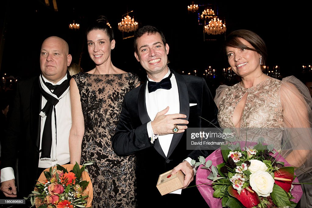 Gady Gronich,Nathalie von Bismarck, Christian Hirmer and wife Christine Hirmer attends the Hadassah Dinner And Dance Charity Gala at the Kesselhaus on October 19, 2013 in Munich, Germany.