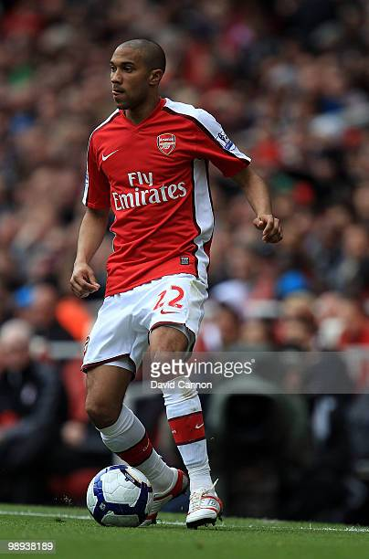 Gael Clichy of Arsenal during the Barclays Premier League match between Arsenal and Fulham at The Emirates Stadium on May 9 2010 in London England