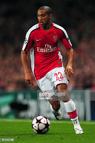 Gael Clichy of Arsenal in action during the UEFA Champions League Group H match between Arsenal and Olympiakos at the Emirates Stadium on September...