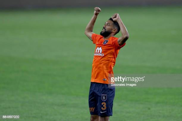 Gael Clichy of Istanbul Basaksehir celebrates the victory during the Turkish Super lig match between Istanbul Basaksehir v Osmanlispor at the Fatih...