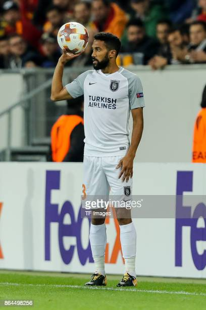 Gael Clichy of Istanbul Basaksehir controls the ball during the UEFA Europa League Group C match between 1899 Hoffenheim and Istanbul Basaksehir FK...