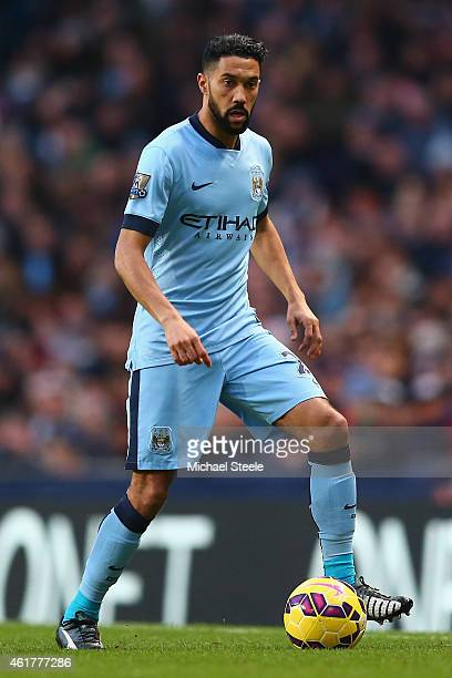 Gael Clichy of Manchester City during the Barclays Premier League match between Manchester City and Arsenal at the Etihad Stadium on January 18 2015...