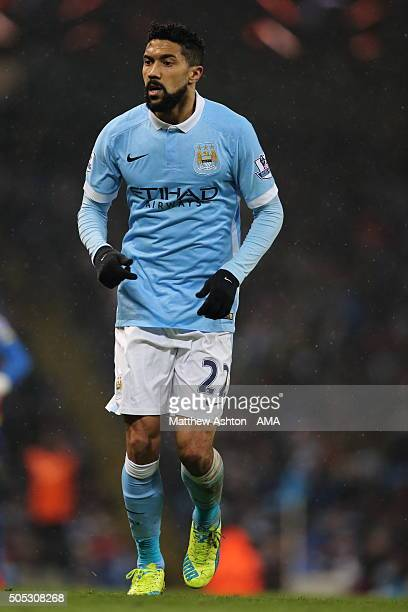 Gael Clichy of Manchester City during the Barclays Premier League match between Manchester City and Crystal Palace at the Etihad Stadium on January...