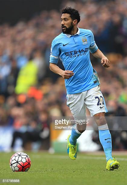 Gael Clichy of Manchester City during the Barclays Premier League match between Norwich City and Manchester City at Carrow Road on March 12 2016 in...