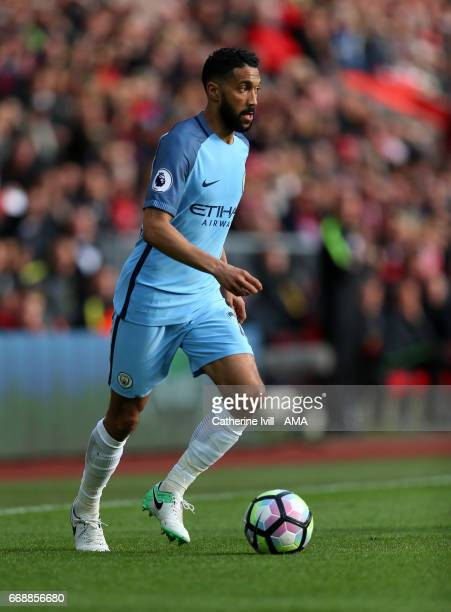 Gael Clichy of Manchester City during the Premier League match between Southampton and Manchester City at St Mary's Stadium on April 15 2017 in...