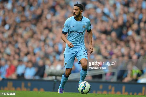 Gael Clichy of Manchester City in action during the Barclays Premier League match between Manchester City and Tottenham Hotspur at the Etihad Stadium...