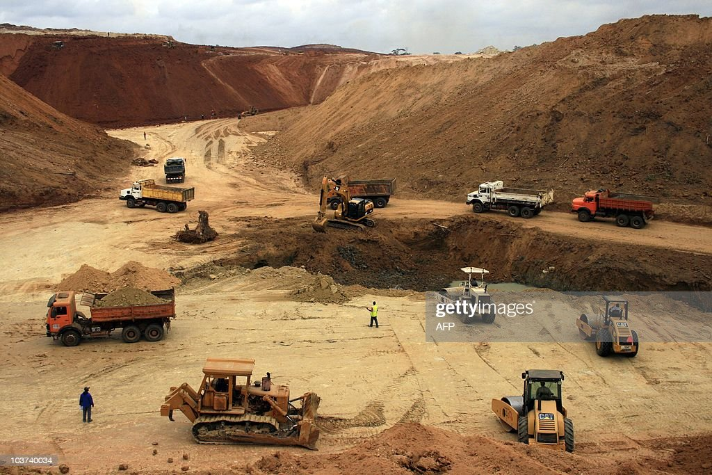 Gael COGNE This photo taken on August 26 2010 shows a construction site of Special Economic Zone one of the most important in central Africa in Nkok...