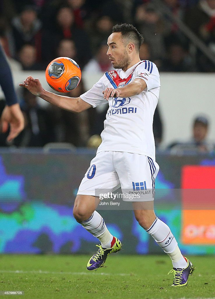 <a gi-track='captionPersonalityLinkClicked' href=/galleries/search?phrase=Gael+Danic&family=editorial&specificpeople=650403 ng-click='$event.stopPropagation()'>Gael Danic</a> of Lyon in action during the French Ligue 1 match between Paris Saint-Germain FC and Olympique Lyonnais at the Parc des Princes stadium on December 1, 2013 in Paris, France.