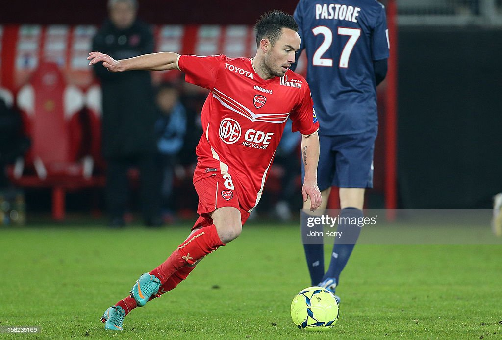 <a gi-track='captionPersonalityLinkClicked' href=/galleries/search?phrase=Gael+Danic&family=editorial&specificpeople=650403 ng-click='$event.stopPropagation()'>Gael Danic</a> of VAFC in action during the French Ligue 1 match between Valenciennes FC and Paris Saint-Germain FC at the Stade du Hainaut on December 11, 2012 in Valenciennes, France.