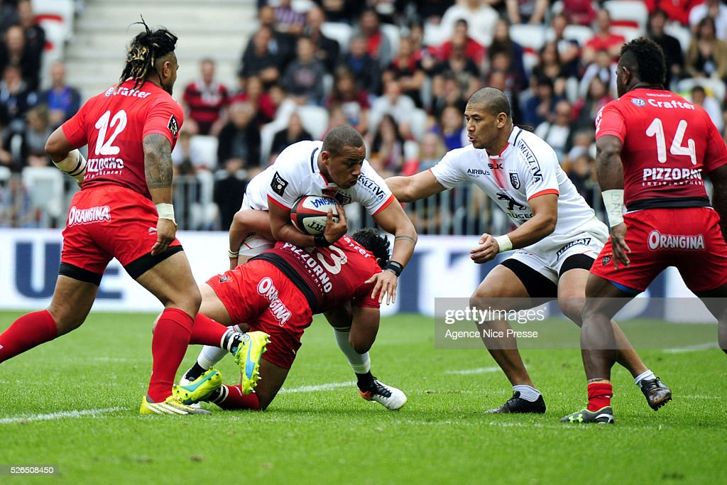 Gael FICKOU during the French Top 14 rugby union match between RC Toulon and Stade Toulousain ( Toulouse ) at Allianz Riviera on April 30, 2016 in Nice, France.