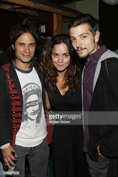 Gael Garcia Bernal Alice Braga and Diego Luna during 2006 Park City Heineken Lounge Hosts Solo Dios Sabe Party at Village at the Lift in Park City...