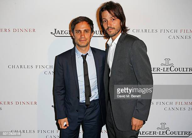 Gael Garcia Bernal and Diego Luna attend The 8th Annual Filmmakers Dinner hosted by Charles Finch and JaegerLeCoultre at Hotel du CapEden Roc on May...