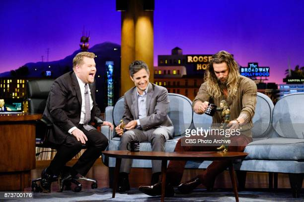 Gael Garcia Bernal and Jason Momoa chat with James Corden during 'The Late Late Show with James Corden' Thursday November 9 2017 On The CBS...