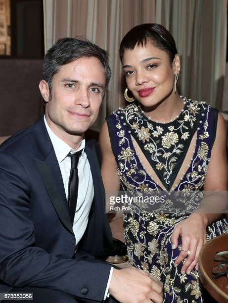 Gael Garcia Bernal and Tessa Thompson attend a special event hosted by Paramount Pictures' Jim Gianopulos with stars from the studio's films on...