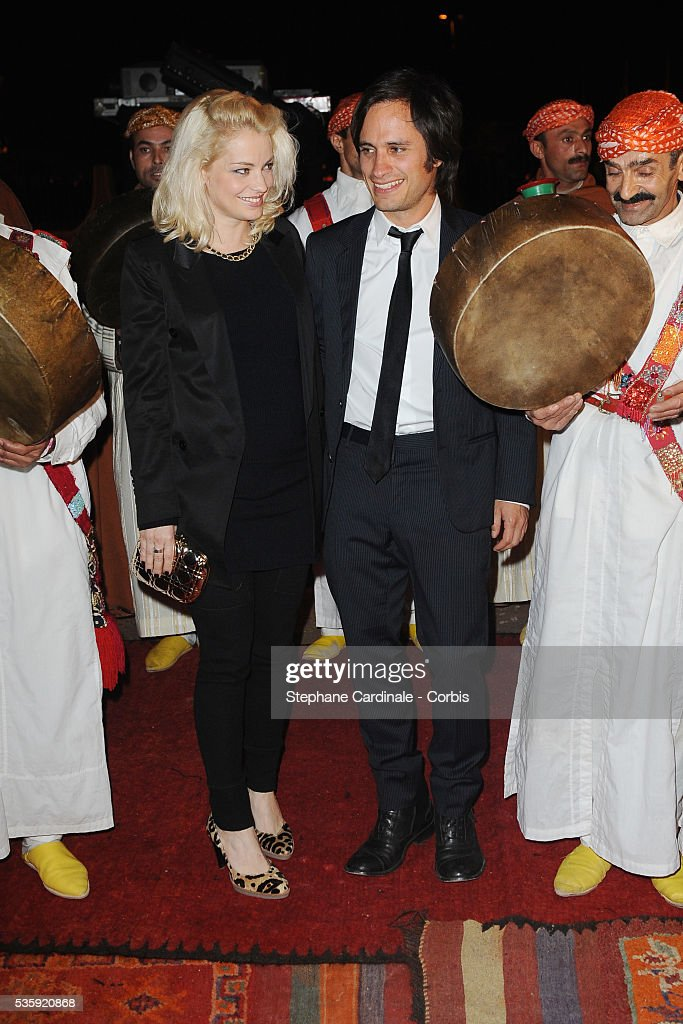 Gael Garcia Bernal and Wife Dolores Fonzi attend The Dior Party during the Marrakech 10th Film Festival.