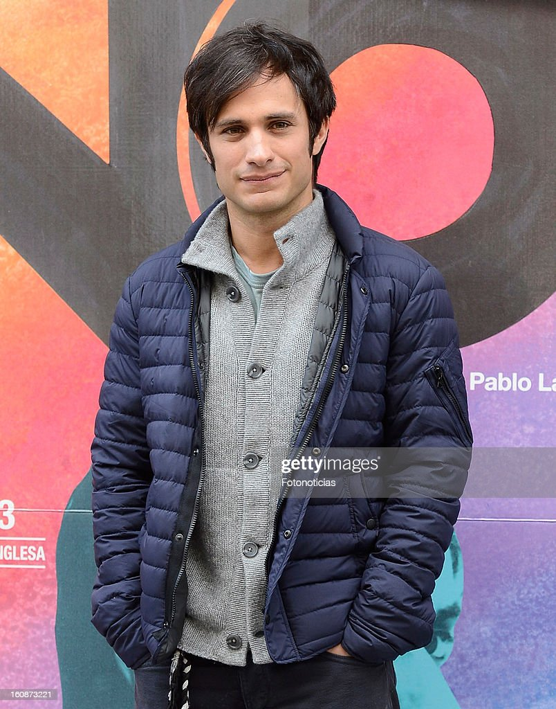 Gael Garcia Bernal attends a photocall for 'NO' at Golem Cinemas on February 7, 2013 in Madrid, Spain.