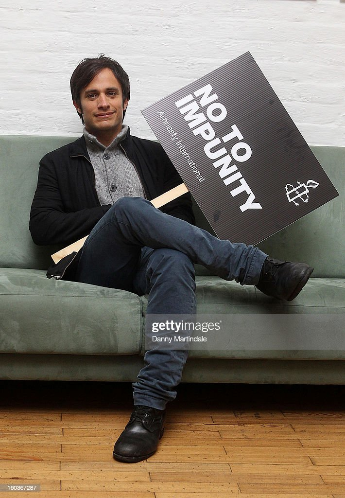 Gael Garcia Bernal - Amnesty International Photocall