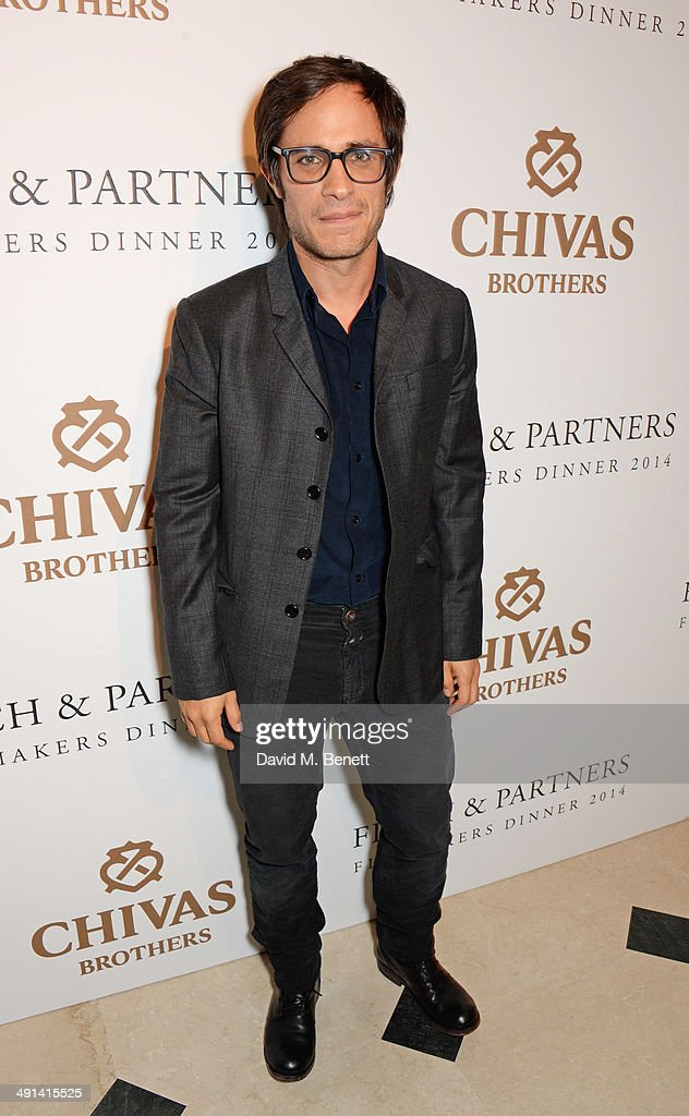 Gael Garcia Bernal attends the annual Charles Finch Filmmakers Dinner during the 67th Cannes Film Festival at Hotel du CapEdenRoc on May 16 2014 in...