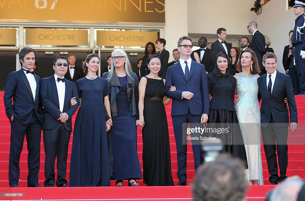 <a gi-track='captionPersonalityLinkClicked' href=/galleries/search?phrase=Gael+Garcia+Bernal&family=editorial&specificpeople=202025 ng-click='$event.stopPropagation()'>Gael Garcia Bernal</a>,<a gi-track='captionPersonalityLinkClicked' href=/galleries/search?phrase=Jia+Zhangke&family=editorial&specificpeople=2522581 ng-click='$event.stopPropagation()'>Jia Zhangke</a>, <a gi-track='captionPersonalityLinkClicked' href=/galleries/search?phrase=Sofia+Coppola&family=editorial&specificpeople=202230 ng-click='$event.stopPropagation()'>Sofia Coppola</a>, <a gi-track='captionPersonalityLinkClicked' href=/galleries/search?phrase=Jane+Campion&family=editorial&specificpeople=616530 ng-click='$event.stopPropagation()'>Jane Campion</a>, Jeon Do-yeon, <a gi-track='captionPersonalityLinkClicked' href=/galleries/search?phrase=Nicolas+Winding+Refn&family=editorial&specificpeople=5498587 ng-click='$event.stopPropagation()'>Nicolas Winding Refn</a>, <a gi-track='captionPersonalityLinkClicked' href=/galleries/search?phrase=Leila+Hatami&family=editorial&specificpeople=7082232 ng-click='$event.stopPropagation()'>Leila Hatami</a>, <a gi-track='captionPersonalityLinkClicked' href=/galleries/search?phrase=Carole+Bouquet&family=editorial&specificpeople=208685 ng-click='$event.stopPropagation()'>Carole Bouquet</a> and <a gi-track='captionPersonalityLinkClicked' href=/galleries/search?phrase=Willem+Dafoe&family=editorial&specificpeople=203171 ng-click='$event.stopPropagation()'>Willem Dafoe</a> attend the Closing Ceremony and 'A Fistful of Dollars' screening during the 67th Annual Cannes Film Festival on May 24, 2014 in Cannes, France.