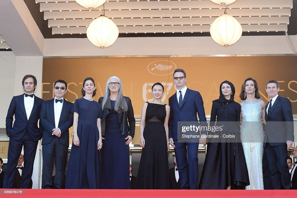 Gael Garcia Bernal,Jia Zhangke, Sofia Coppola, Jane Campion, Jeon Do-yeon, Nicolas Winding Refn, Leila Hatami, Carole Bouquet and Willem Dafoe at the Closing ceremony and 'A Fistful of Dollars' screening during 67th Cannes Film Festival