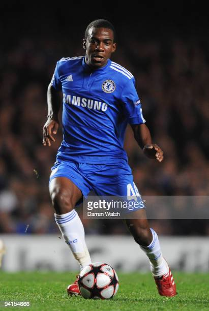 Gael Kakuta of Chelsea in action during the UEFA Champions League Group D match between Chelsea and Apoel Nicosia at Stamford Bridge on December 8...