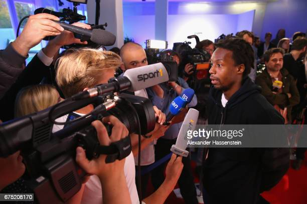 Gael Monfils arrives at the Players Night of the 102 BMW Open by FWU at Iphitos tennis club on April 30 2017 in Munich Germany