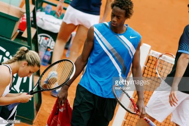 Gael MONFILS et Dominika CIBULKOVA Double Mixte Roland Garros 2008 Jour 10