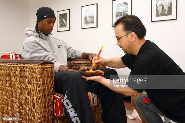 Gael MONFILS et VANLUC Roland Garros 2006 La Vach'art est un concours d'art Contemporain au benefice d'oeuvres caritatives Apres New York Las Vegas...