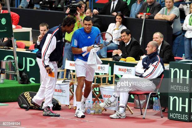 Gael MONFILS / Jo Wilfried TSONGA / Guy FORGET Coupe Davis France / Republique Tcheque Ostarva