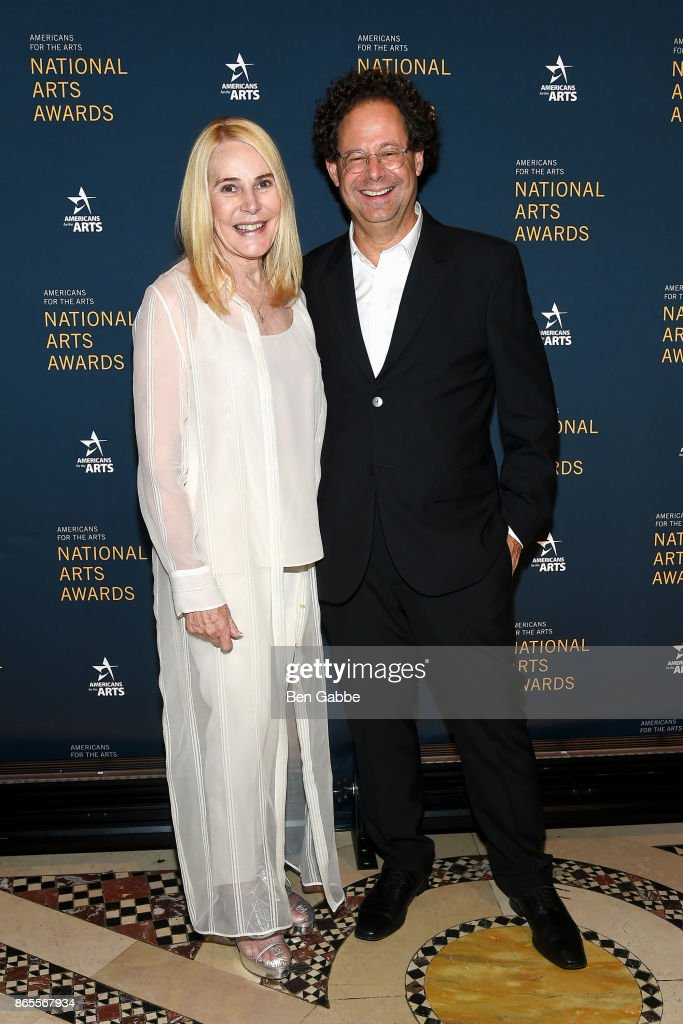 Gael Neeson (L) and Director of the Whitney Museum Adam Weinberg attend the National Arts Awards at Cipriani 42nd Street on October 23, 2017 in New York City.