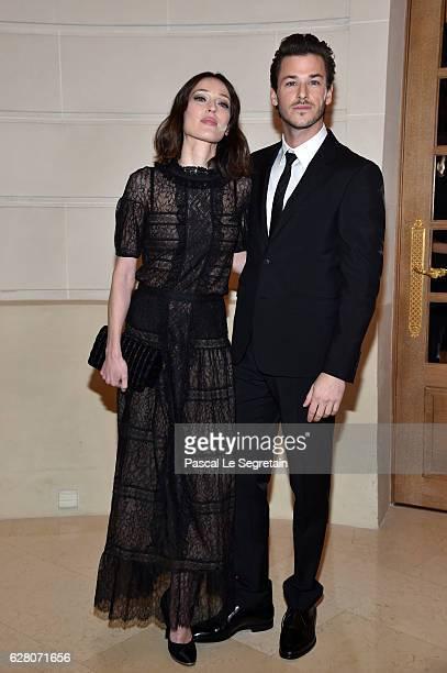 Gaelle Pietri and Gaspard Ulliel attend 'Chanel Collection des Metiers d'Art 2016/17 Paris Cosmopolite' Show on December 6 2016 in Paris France