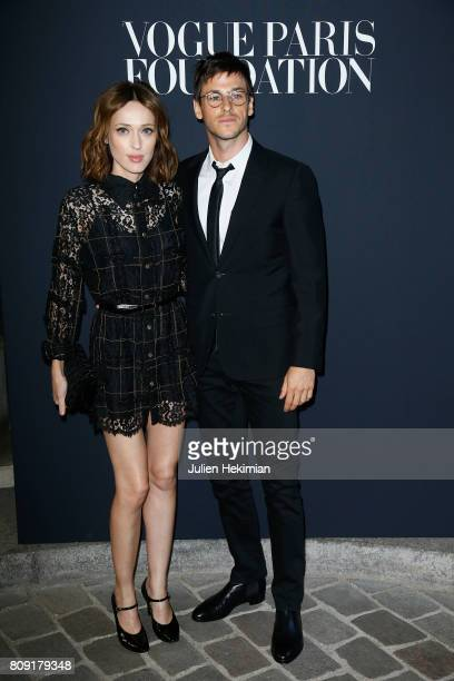 Gaelle Pietri and Gaspard Ulliel attend the Vogue Foundation Dinner during Paris Fashion Week as part of Haute Couture Fall/Winter 20172018 at Musee...