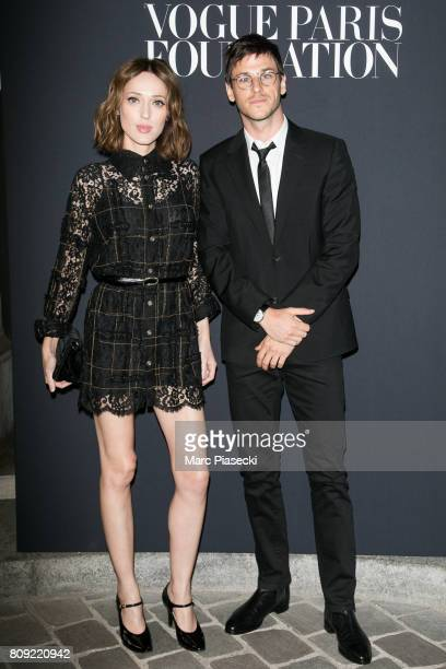 Gaelle Pietri and Gaspard Ulliel attend Vogue Foundation Dinner during Paris Fashion Week as part of Haute Couture Fall/Winter 20172018 at Musee...