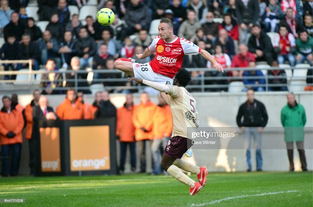 Gaetan COURTET / Benjamin ANGOUA - - Reims / Valenciennes - 33e journee de Ligue 1 - , Photo: Dave Winter / Icon Sport