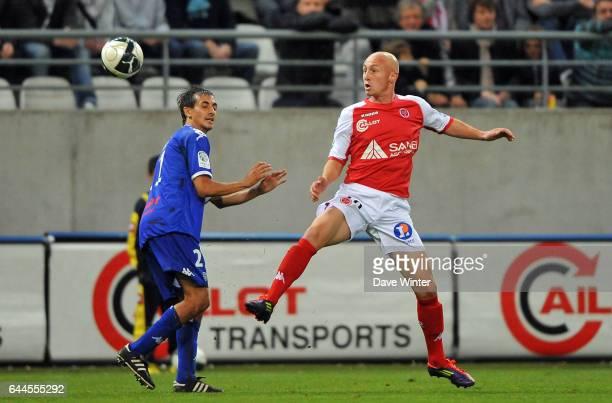 Gaetan COURTET / Fethi HAREK Reims / Bastia 9e journee de Ligue 2 Photo Dave Winter / Icon Sport