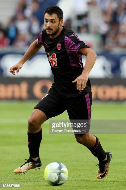 Gaetan Laborde of Bordeaux in action during the UEFA Europa League qualifying match between Bordeaux and Videoton at Stade Matmut Atlantique on July...