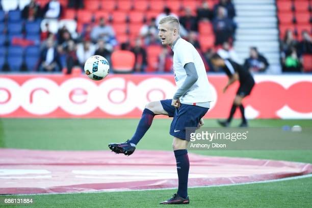 Gaetan Robail of PSG during the Ligue 1 match between Paris SaintGermain and SM Caen at Parc des Princes on May 20 2017 in Paris France