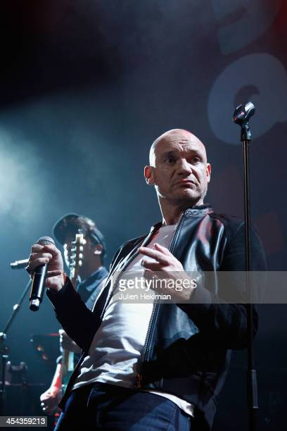 Gaetan Roussel performs on stage during the 50th anniversary celebration of french radio France Inter at La Gaite Lyrique on December 8 2013 in Paris...