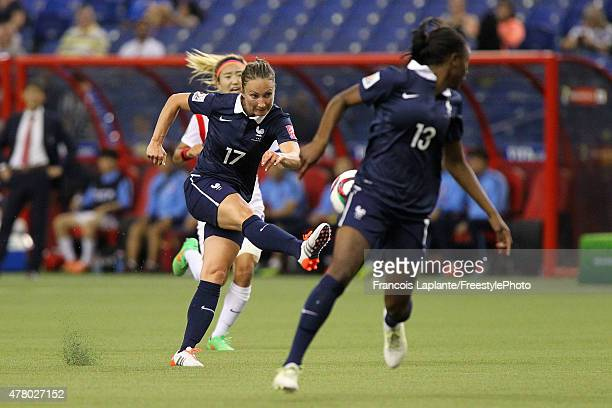 Gaetane Thiney of France kicks the ball against team Korea during the FIFA Women's World Cup Canada 2015 round of 16 match between France and Korea...