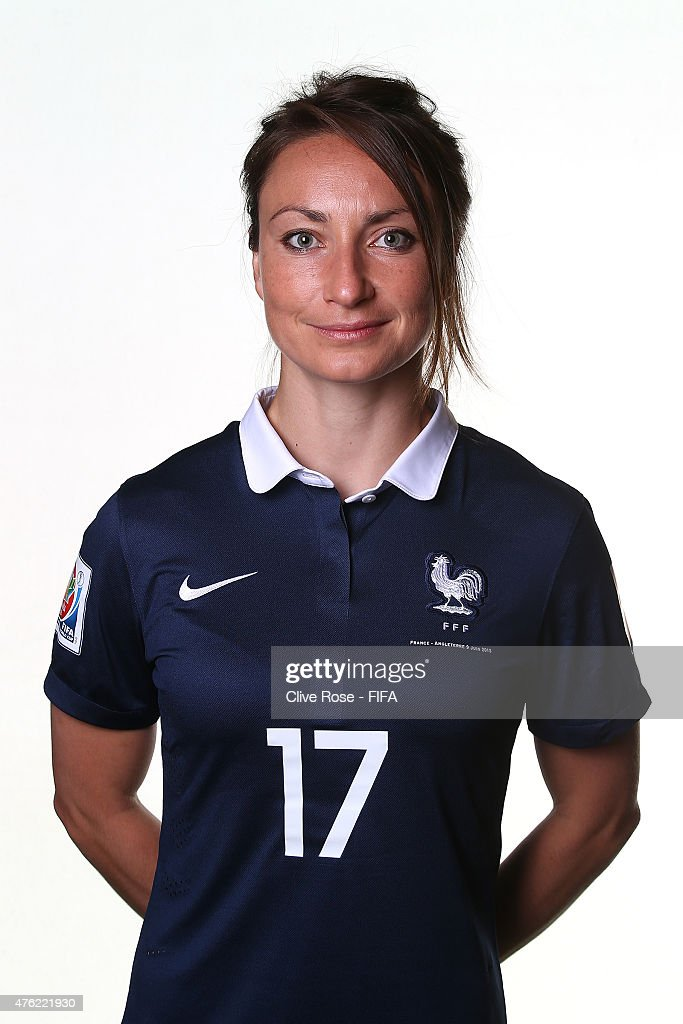 Gaetane Thiney of France poses during a FIFA Women's World Cup portrait session on June 6, 2015 in Moncton, Canada.