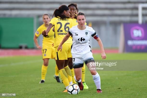 Gaetane Thiney of Paris FC during the women's Division 1 match between Paris FC and Paris Saint Germain on October 15 2017 in Paris France