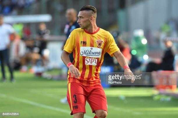 Gaetano Letizia of Benevento Calcio during the Serie A TIM match between SSC Napoli and Benevento Calcio at Stadio San Paolo Naples Italy on 17...