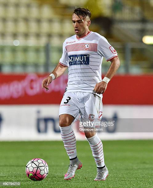 Gaetano Letizia of Carpi in action during the Serie A match between Carpi FC and SSC Napoli at Alberto Braglia Stadium on September 23 2015 in Modena...