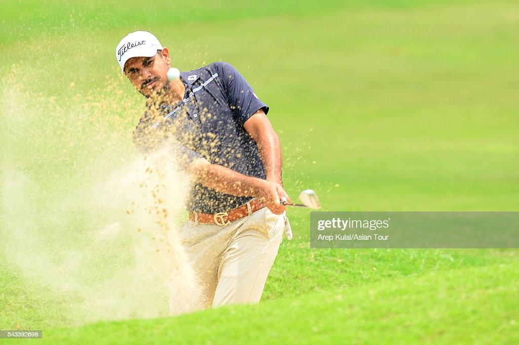 Gaganjeet Bhullar of India pictured during the practise round ahead of the Yeangder Tournament Players Championship at Linkou International Golf Club on June 28, 2016 in Taipei, Taiwan.
