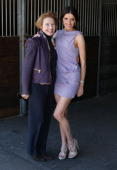 Gai Waterhouse and Kate Waterhouse pose during the celebration for the arrival of world champion racehorse Big Brown at the Inglis Stables on August...