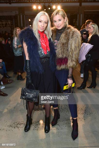 Gaia Matisse and Danielle Bernstein attends the Zadig Voltaire show during New York Fashion Week at Skylight Modern on February 13 2017 in New York...